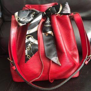 Authentic 100% Louis Vuitton Red EPI Petite Noe